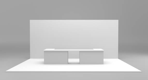 Blank Exhibition Stand stock photo