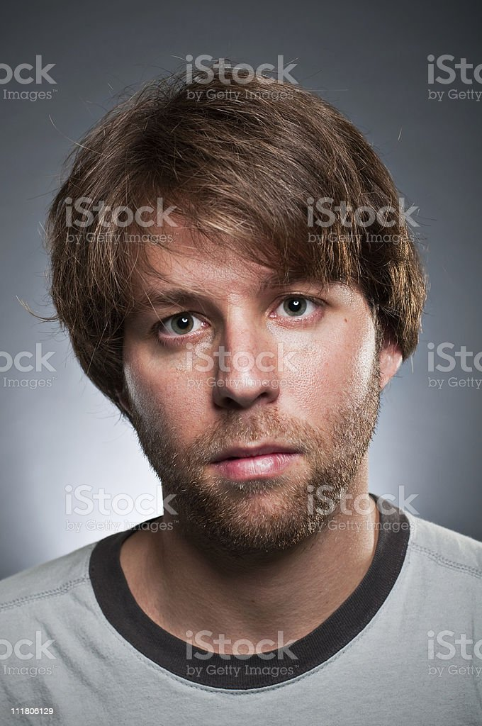 Blank Expression Portrait royalty-free stock photo