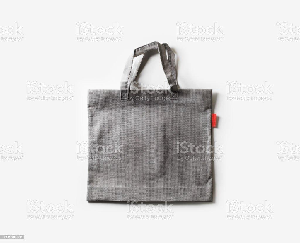 Blank fabric bag stock photo