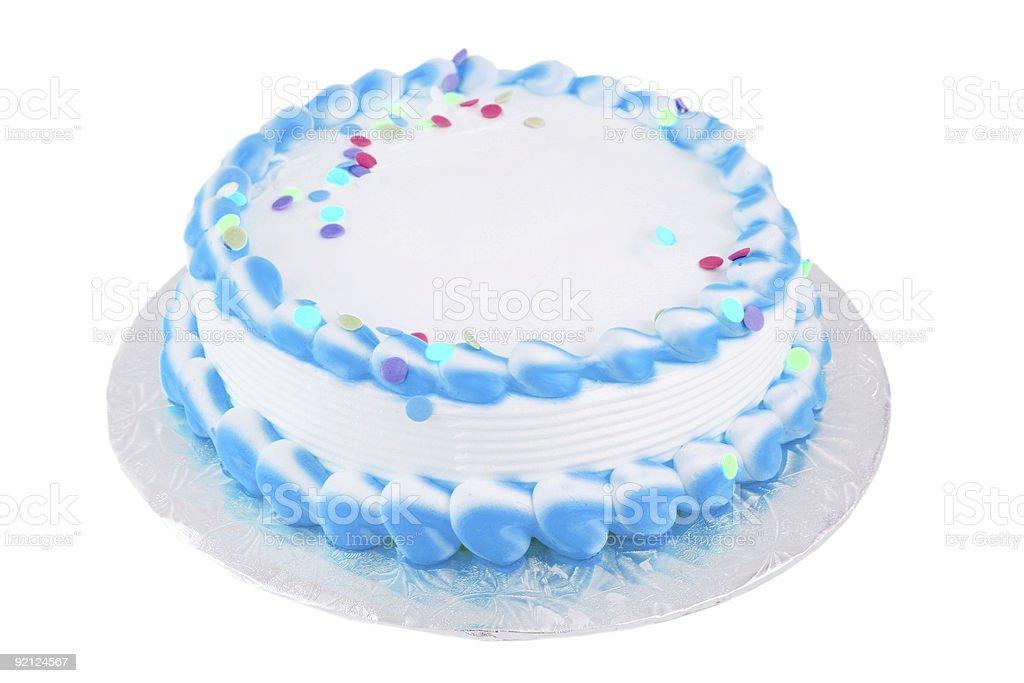 blank festive cake stock photo