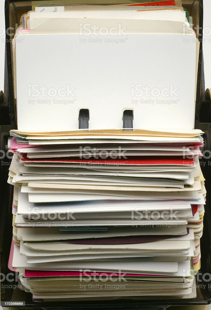 Blank File Card stock photo
