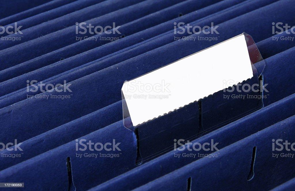 Blank File Folder Tab royalty-free stock photo