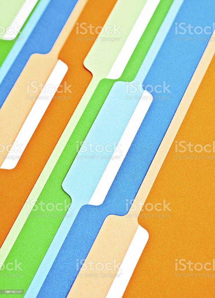 Blank File Folders royalty-free stock photo