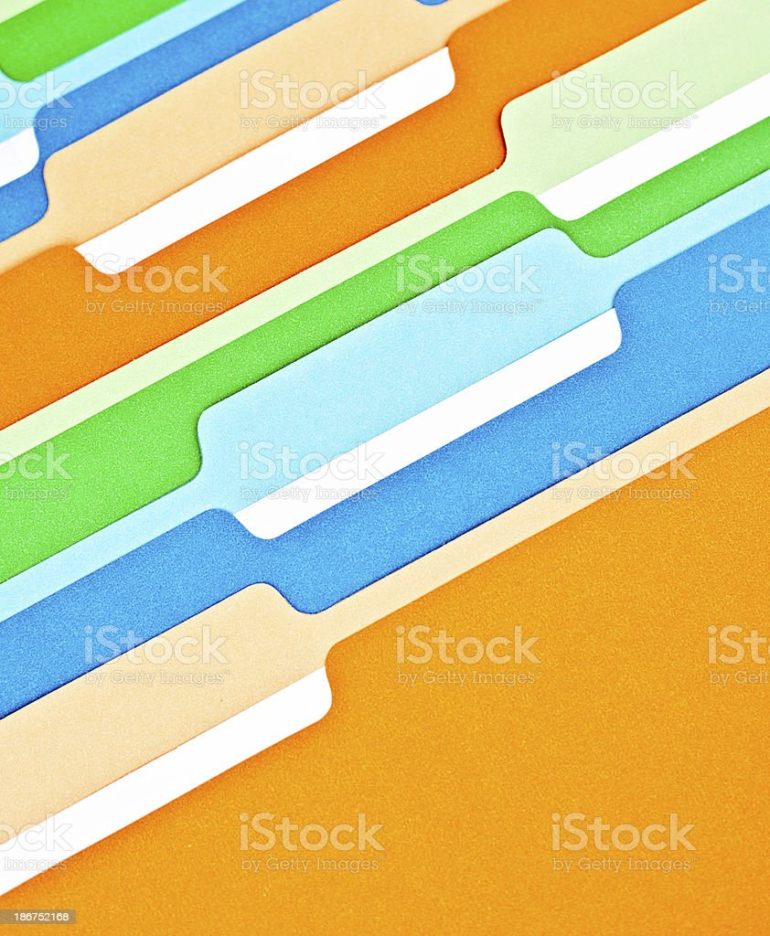 Blank File Folders royalty-free stock photo