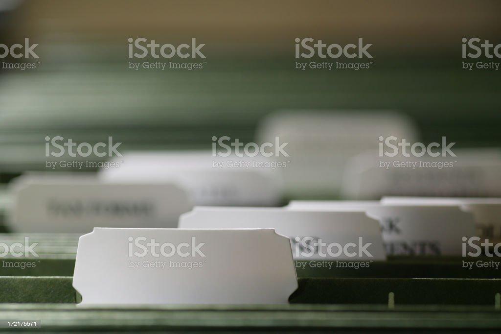 Blank File royalty-free stock photo