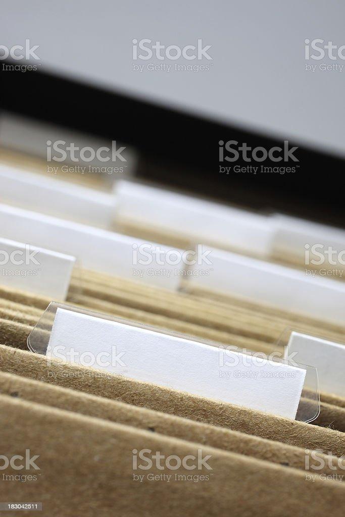 Blank Files royalty-free stock photo