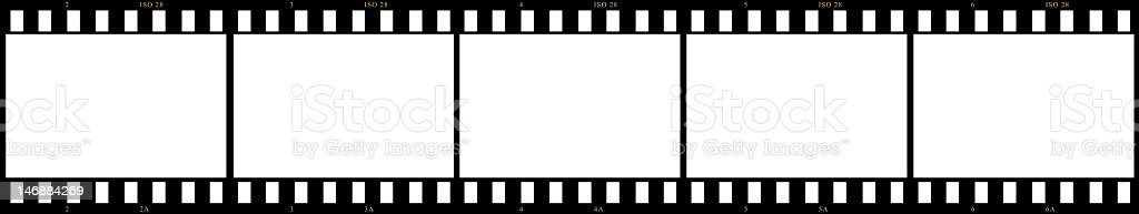 Blank Film Frames Stock Photo & More Pictures of Backgrounds | iStock