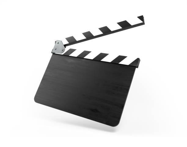 Blank Film Slate Isolated On White Background stock photo
