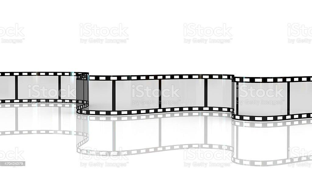 Blank film strip on white background stock photo