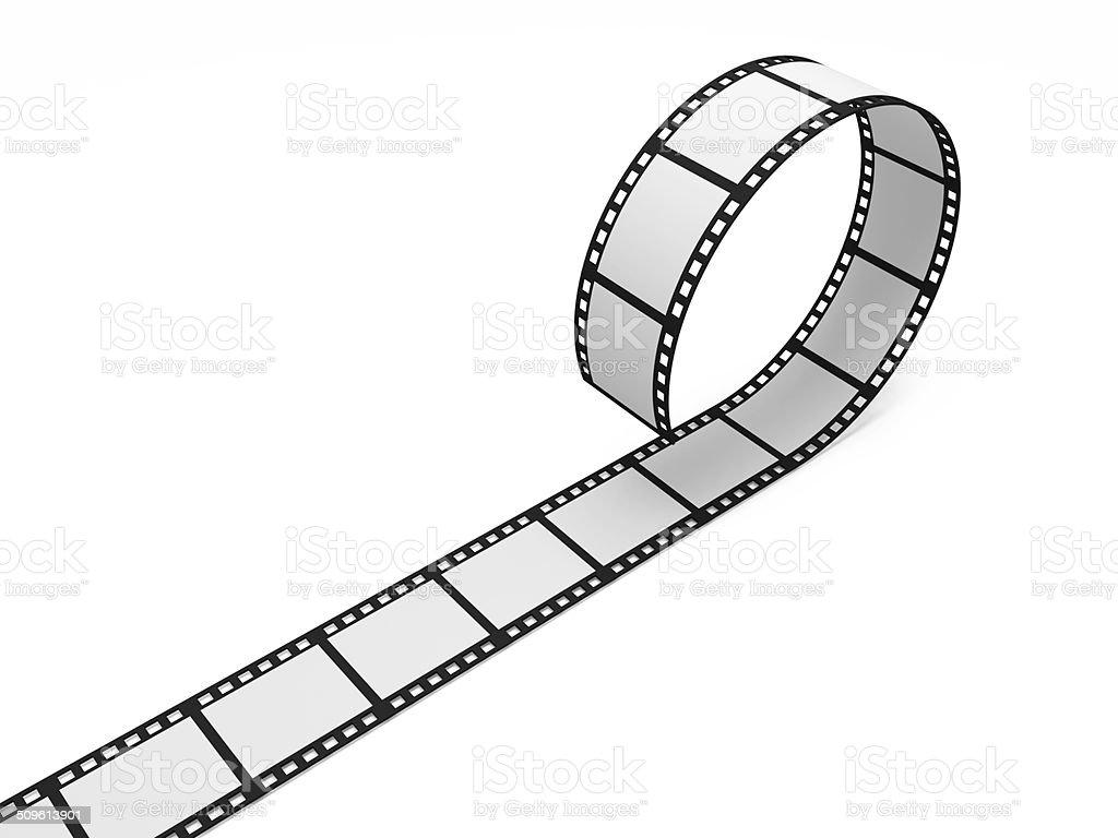 Leere Film-Streifen, isoliert auf weißem Hintergrund – Foto