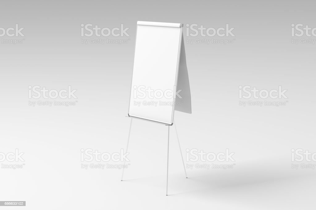 Blank flip chart standing royalty-free stock photo