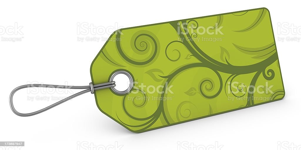 blank floral price tag royalty-free stock photo