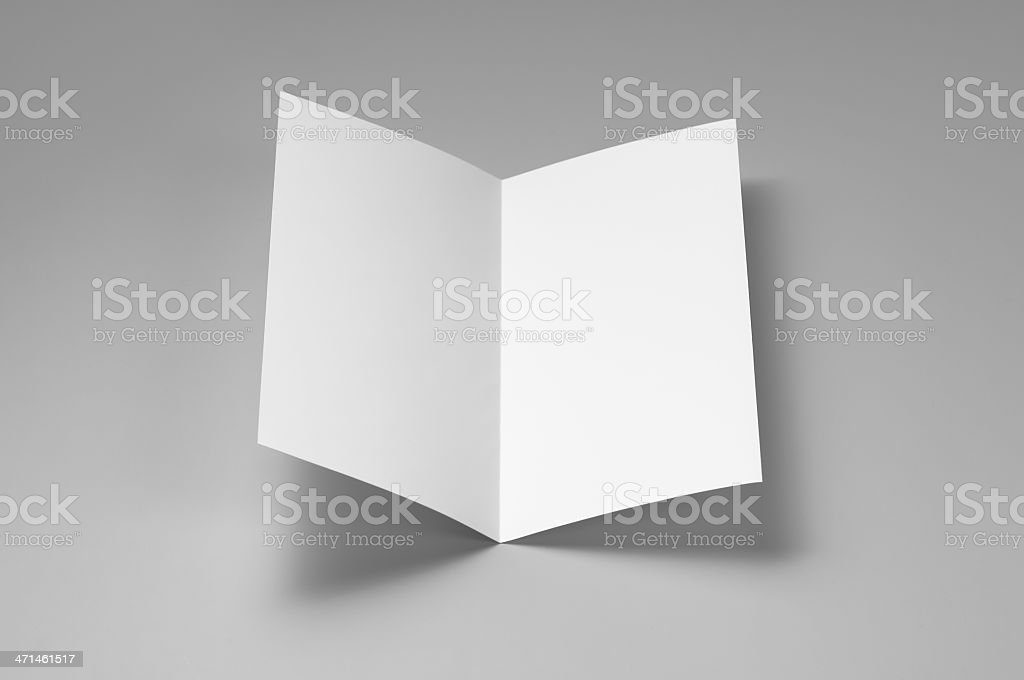 Blank flyer, 4-page, single fold royalty-free stock photo