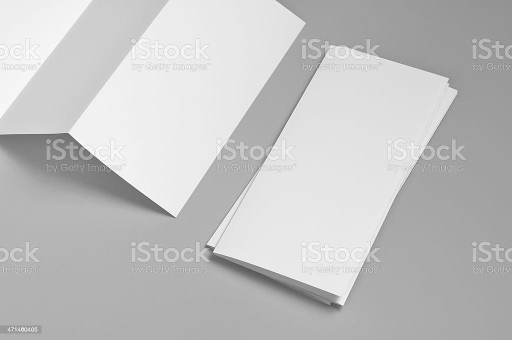 Blank flyer, 6-page, Z-fold (Accordion) royalty-free stock photo