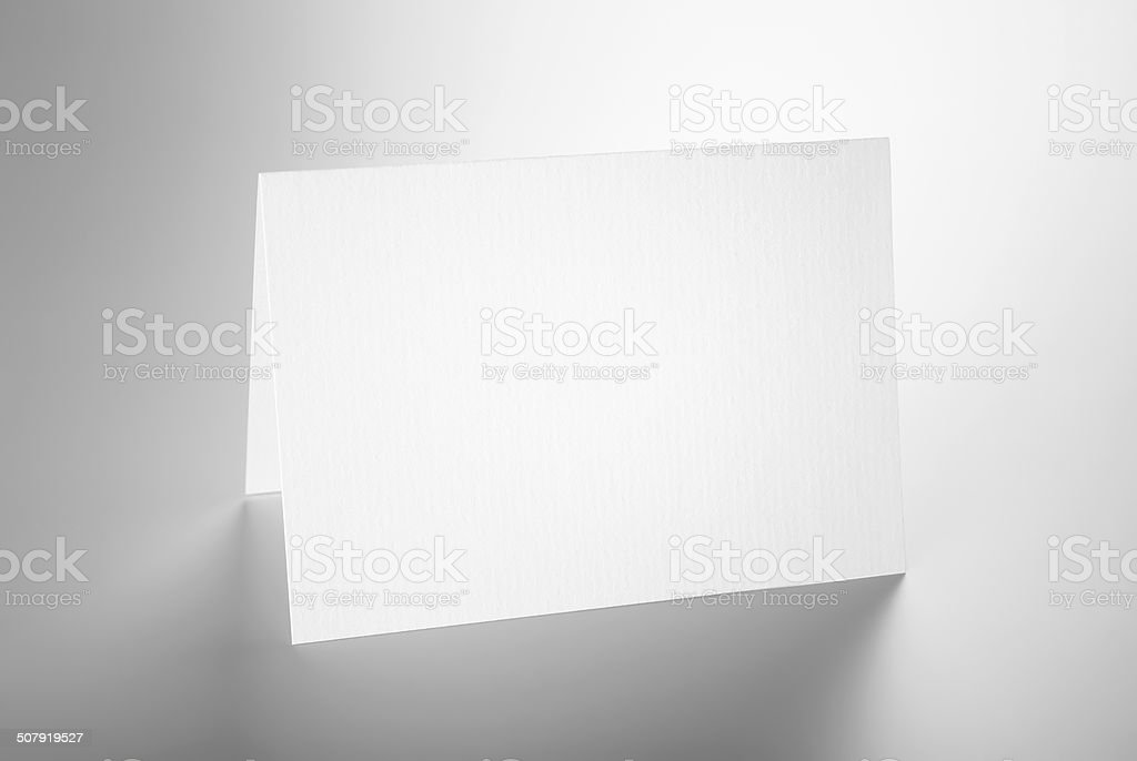 Blanc plié carte debout - Photo