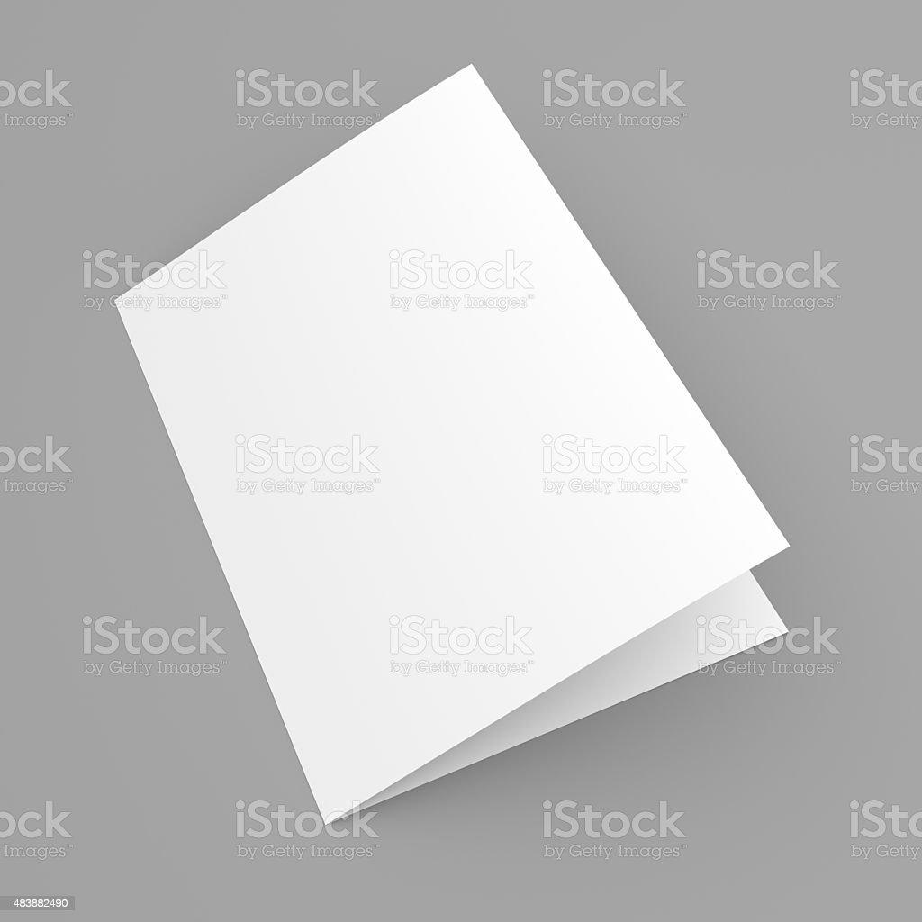 Blank folded flyer booklet postcard business card or brochure blank folded flyer booklet postcard business card or brochure royalty free stock magicingreecefo Gallery