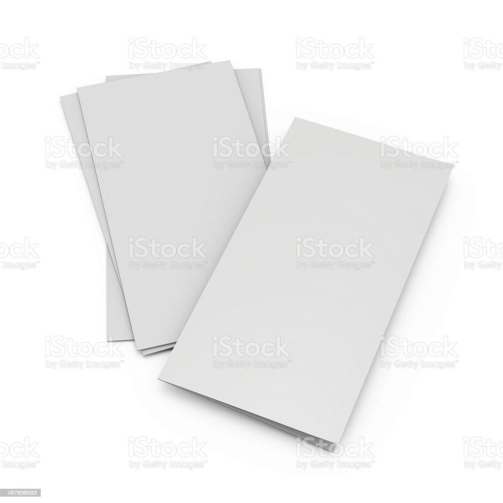 blank folded leaflet composition stock photo