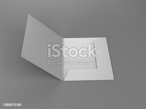 istock Blank Folder Template 1095875160
