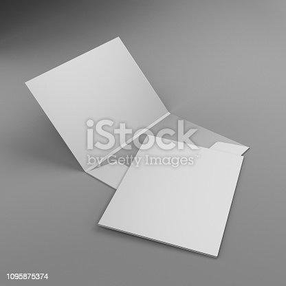 istock Blank Folder Template 1095875374