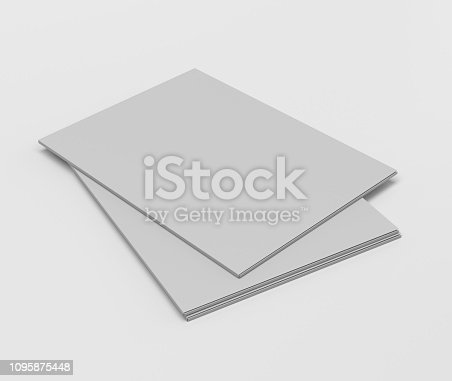 istock Blank Folder Template 1095875448