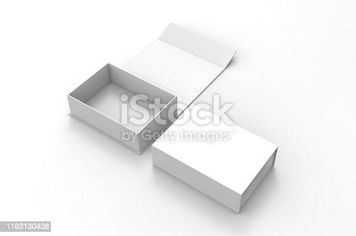 Blank folding box, 3d illustration.