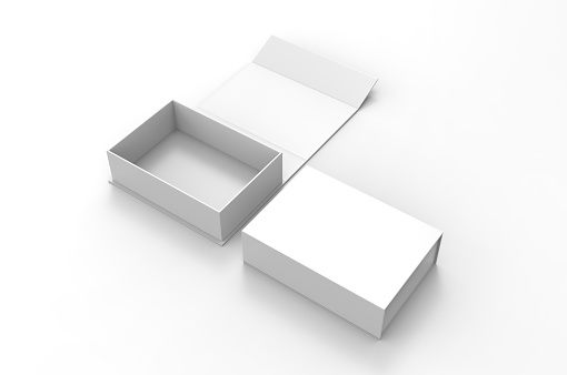 Blank folding box, 3d illustration.