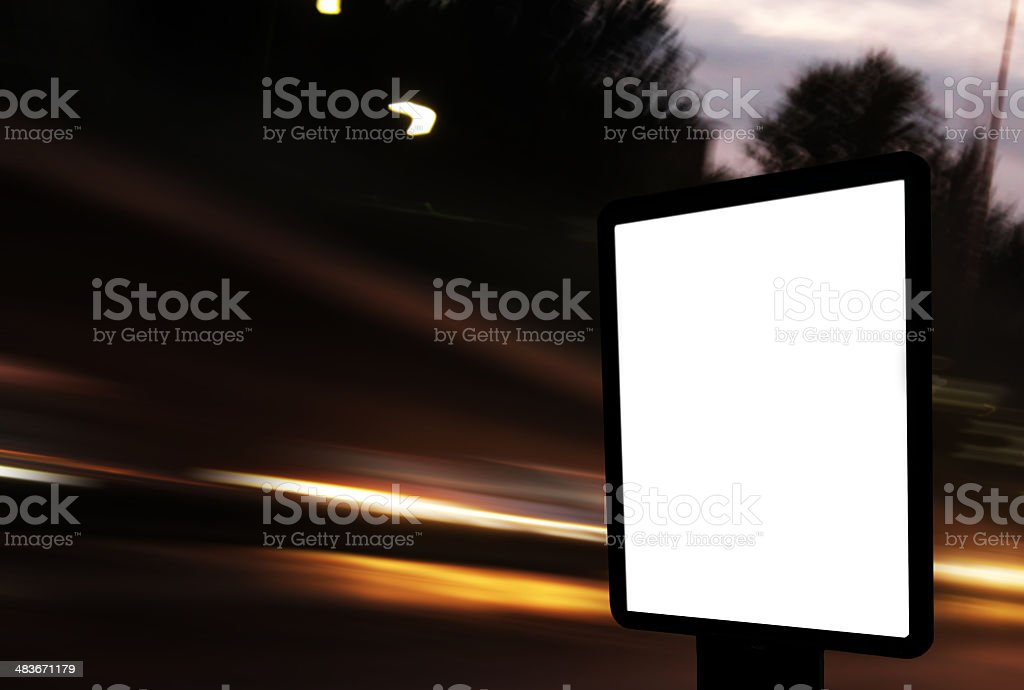 blank  for your advertisement royalty-free stock photo
