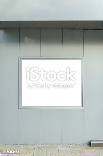 Blank Frame For You Advertising In A Outside Wall Stock Photo & More ...