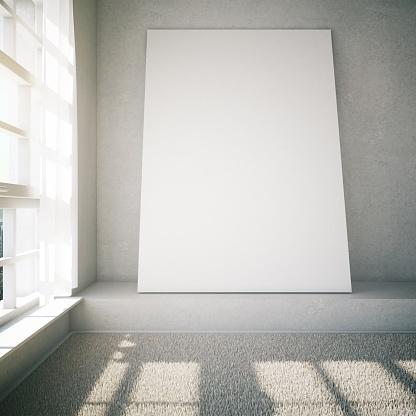 518847146 istock photo Blank frame in white room 518847464