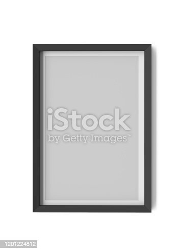 blank, frame, isolated, 3d, rendering, white background