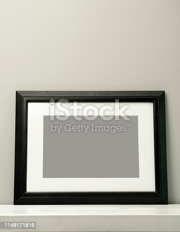 532332971 istock photo Blank frame on a gray background with clipping path 1148171816