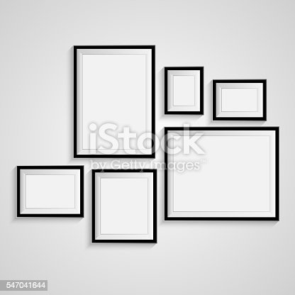 istock Blank frame on a white background. 547041644