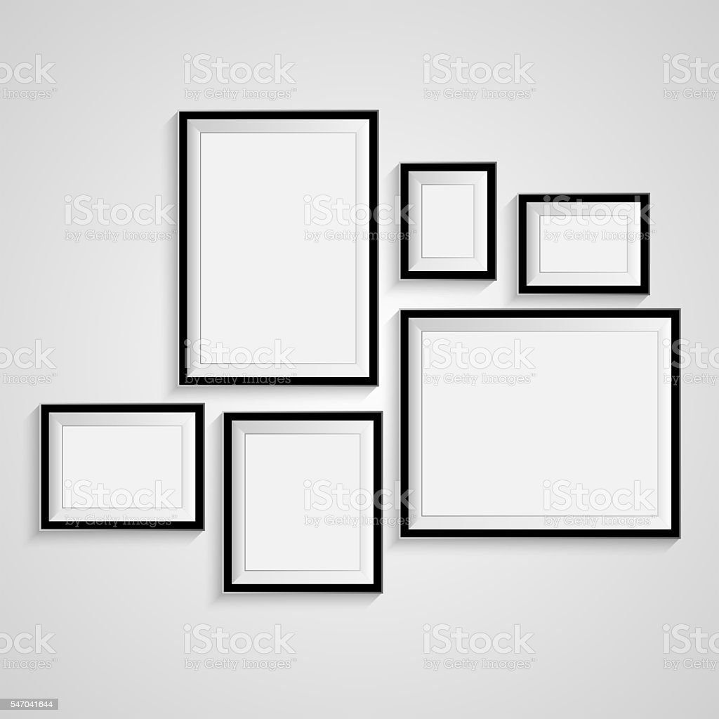 Blank frame on a white background. – Foto