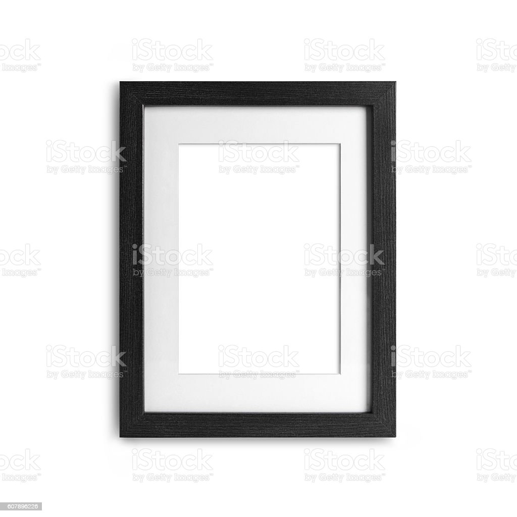 blank frame on a white background with clipping path - foto stock