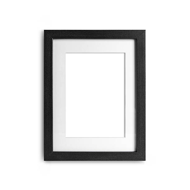 blank frame on a white background with clipping path stock photo