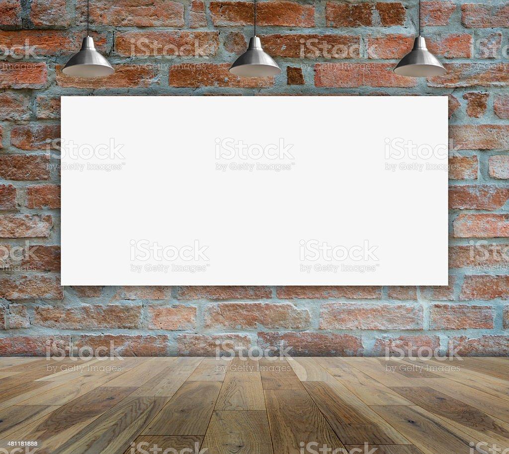 Leere Frames auf Ziegelmauer für Informationen Nachricht – Foto