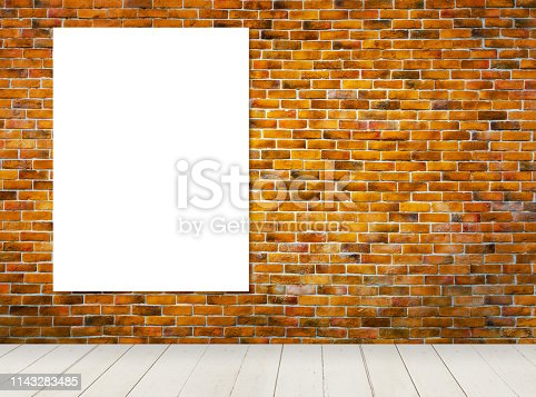 istock blank frame on vintage style brick wall background 1143283485