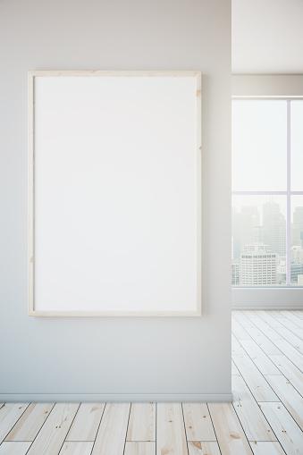 518847146 istock photo Blank frame on white wall 518847146