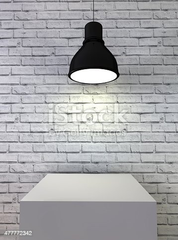 istock blank frame poster in room with ceiling lamp 477772342