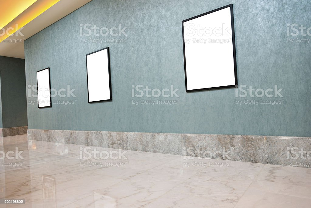 blank framed posters royalty-free stock photo