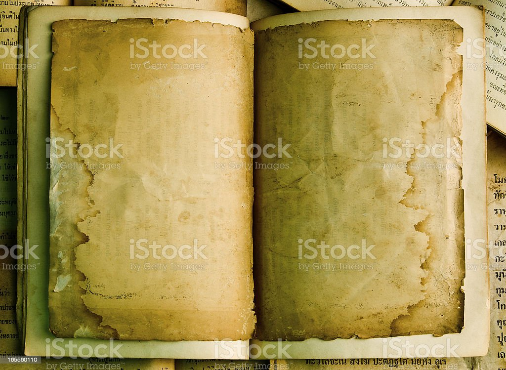 Blank front page of very old book royalty-free stock photo