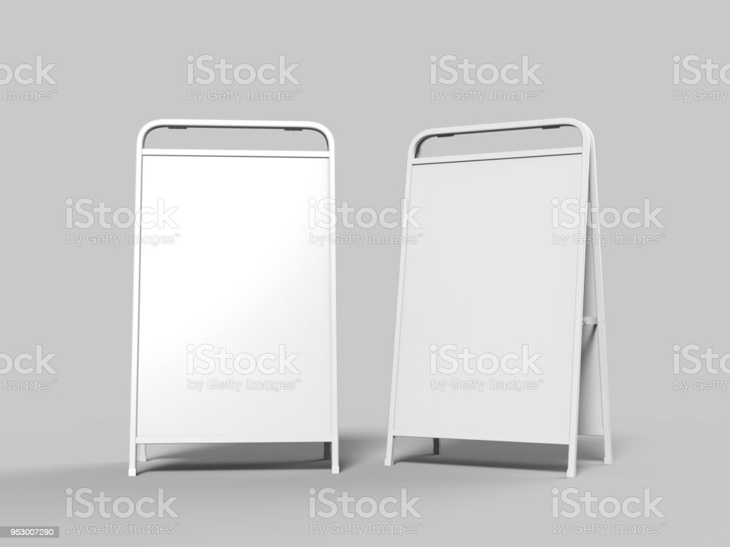 Blank Full Handle Metallic Outdoor Advertising Stand Isolated Clear ...