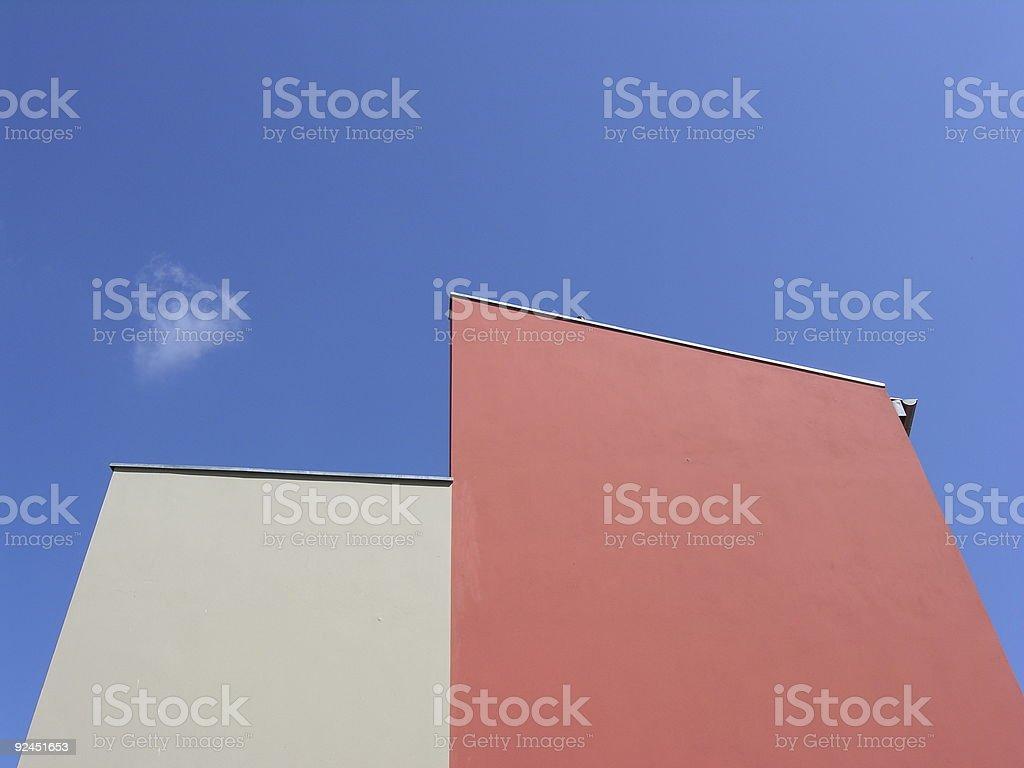 Blank Gable Sky Blue stock photo