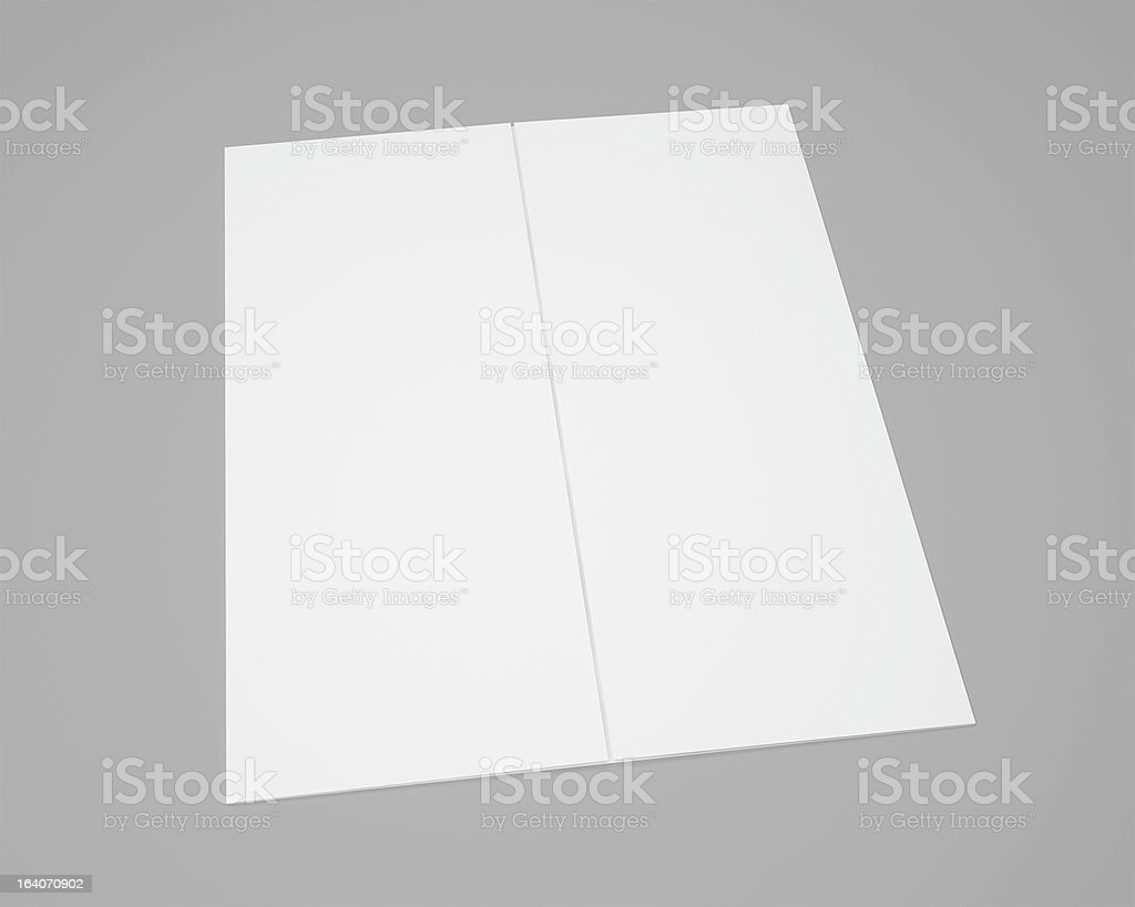 Blank Gate Fold Brochure with soft shadows royalty-free stock photo