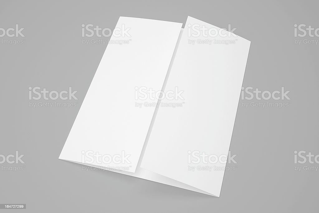 Blank Gate Fold Brochure With Soft Shadows Stock Photo