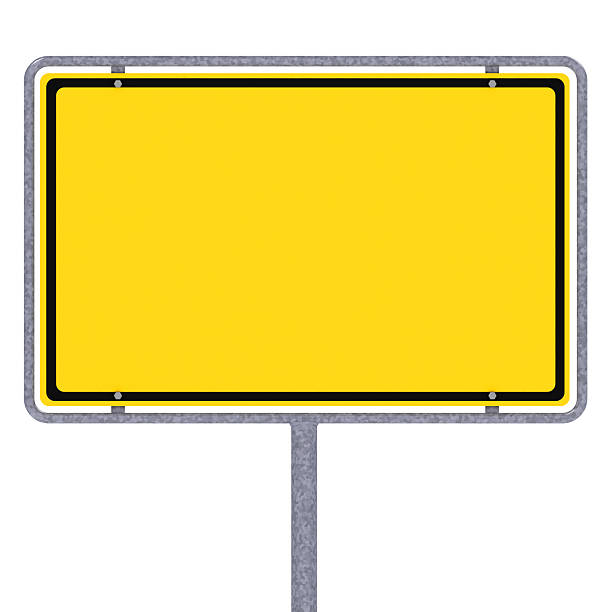 blank german city limit sign - place sign stock pictures, royalty-free photos & images
