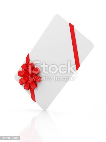 670414478 istock photo Blank Gift Card isolated on white background 522313837