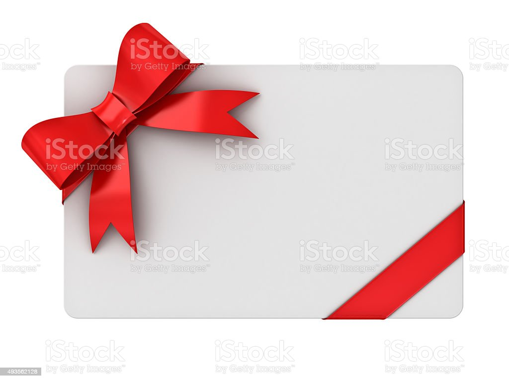 Blank gift card stock photo