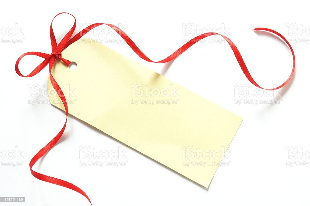 blank gift label royalty-free stock photo