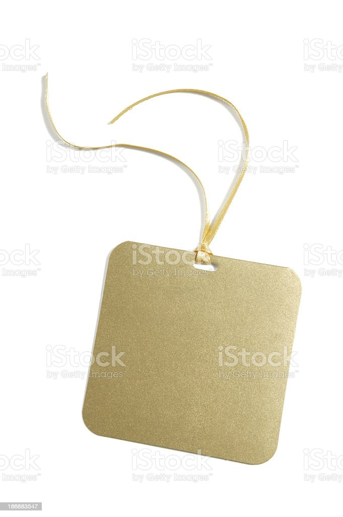 blank gift or price tag(w/clipping path) royalty-free stock photo